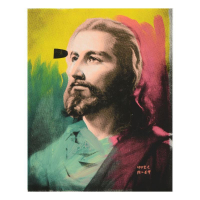 """Ringo Daniel Funes Signed """"Jesus"""" 12x16 One-of-a-Kind Mixed Media on Canvas at PristineAuction.com"""