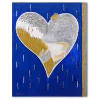 "David Ashouri Signed ""Mixed Love"" 24x30 Original Acrylic Painting on Canvas at PristineAuction.com"