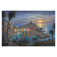 """Robert Finale Signed """"Vernazza Sunset"""" Artist Embellished EE Limited Edition 28x42 Giclee on Canvas at PristineAuction.com"""