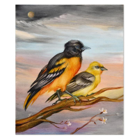 """Martin Katon Signed """"Baltimore Oriole Pair"""" 20x24 Original Oil Painting on Canvas at PristineAuction.com"""