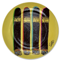 """Steve Kaufman Signed """"COHIBA"""" Hand Painted Plate at PristineAuction.com"""