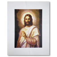 """Steve Kaufman Signed """"Jesus Peace (State 2)"""" Limited Edition 30x28 Hand Pulled Silkscreen Mixed Media on Canvas at PristineAuction.com"""