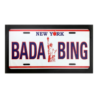 """Steve Kaufman Signed """"BADA BING"""" Limited Edition 29x51 Hand Pulled Silkscreen Mixed Media on Canvas at PristineAuction.com"""