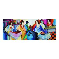 """Patricia Govezensky Signed """"Girls Power"""" 20x52 Original Watercolor at PristineAuction.com"""