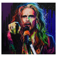 """Alexander Ischenko Signed """"Steven Tyler"""" 36x36 Original Acrylic Painting on Canvas at PristineAuction.com"""