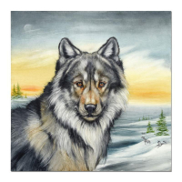"""Martin Katon Signed """"Winter Wolves"""" 24x24 Original Oil Painting on Canvas at PristineAuction.com"""