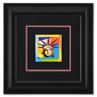 """Peter Max Signed """"Liberty Head XVI"""" Limited Edition 23x23 Custom Framed Lithograph #694/700 at PristineAuction.com"""