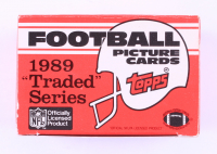"""1989 Topps Football """"Traded"""" Series Box (See Description) at PristineAuction.com"""