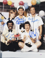 """""""The Love Boat"""" 11x14 Photo Cast-Signed by (5) with Fred Grandy, Lauren Tewes, Bernie Kopell, Ted Lange, & Gavin McLeod (PSA LOA) at PristineAuction.com"""