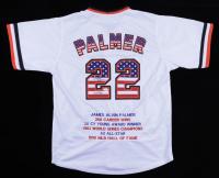 """Jim Palmer Signed Career Highlight Stat Jersey Inscribed """"HOF 90"""" (JSA COA) (See Description) at PristineAuction.com"""