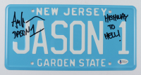 """Ari Lehman Signed """"Friday the 13th"""" New Jersey License Plate Inscribed """"Jason 1"""" & """"Highway To Hell!"""" (Beckett COA) at PristineAuction.com"""