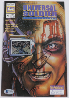 """Dolph Lundgren Signed 1992 """"Universal Soldier"""" Issue #1 Now Comic Book (Beckett COA) (See Desciption) at PristineAuction.com"""