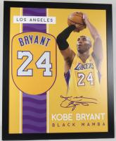 Kobe Bryant 35x43 Custom Framed Jersey at PristineAuction.com