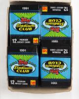 1991-92 Topps Stadium Club Hockey Hobby Box with (36) Packs at PristineAuction.com