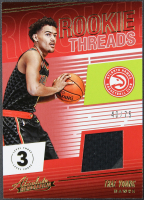 Trae Young 2018-19 Absolute Memorabilia Rookie Threads Level 3 #5 RC #40/75 with Game-Used Material at PristineAuction.com