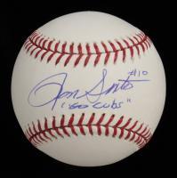 "Ron Santo Signed OML Baseball Inscribed ""Go Cubs"" (JSA COA) at PristineAuction.com"