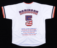 "Brooks Robinson Signed Career Highlight Stat Jersey Inscribed ""HOF 1983"" (JSA COA) at PristineAuction.com"