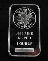 1 Oz .999 Fine Silver Sunshine Minting Silver Bullion Bar at PristineAuction.com