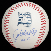 "John Smoltz Signed OML Baseball Inscribed ""HOF 15"" (JSA COA) at PristineAuction.com"
