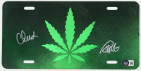 Cheech Marin & Tommy Chong Signed License Plate (Beckett Hologram) at PristineAuction.com