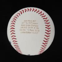 Jose Altuve Signed LE OML Career Stat Highlight Baseball (JSA COA) at PristineAuction.com