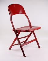 Genuine Joe Louis Arena Metal Folding Chair (DC Sports COA) at PristineAuction.com