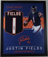 Justin Fields Signed 35x43 Custom Framed Jersey (JSA Hologram) (See Description) at PristineAuction.com