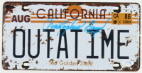"""Christopher Lloyd Signed """"Back to the Future"""" California License Plate (AutographCOA Hologram) at PristineAuction.com"""