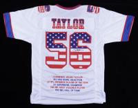Lawrence Taylor Signed Career Highlight Stat Jersey (JSA COA) at PristineAuction.com