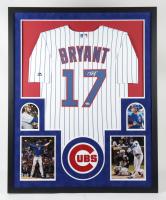 Kris Bryant Signed Cubs 34x42.25 Custom Framed Jersey Display (Fanatics Hologram) at PristineAuction.com