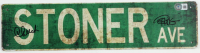 """Cheech Marin & Tommy Chong Signed """"Stoner Ave"""" Street Sign (Beckett Hologram) (See Description) at PristineAuction.com"""