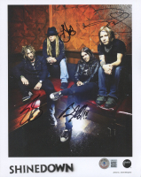 Shinedown 8x10 Photo Band-Signed by (4) with Brent Smith, Zach Myers, Barry Kerch & Eric Bass (Beckett Hologram) at PristineAuction.com