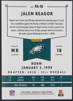 Jalen Reagor 2020 Panini Pink #18 RC at PristineAuction.com