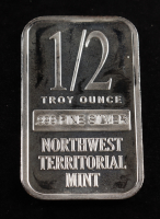 1/2 Oz .999 Fine Silver Northwest Territorial Mint Silver Bullion Bar at PristineAuction.com