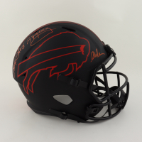 Jim Kelly, Thurman Thomas, & Andre Reed Signed Bills Full-Size Eclipse Alternate Speed Helmet (Beckett COA) (See Description) at PristineAuction.com