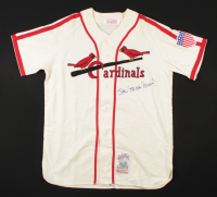 """Stan """"The Man"""" Musial Signed Cardinals Jersey Inscribed """"The Man"""" (Beckett LOA) at PristineAuction.com"""
