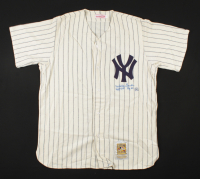 """Whitey Ford Signed Yankees Jersey Inscribed """"HOF '74"""" & """"Cy 61"""" (Beckett LOA) (See Description) at PristineAuction.com"""