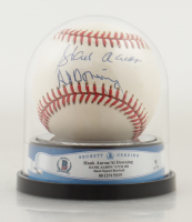 Hank Aaron & Al Downing Signed ONL Baseball with High Quality Display Case (BGS Encapsulated) at PristineAuction.com