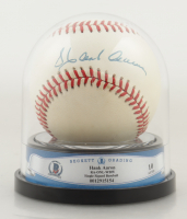 Hank Aaron Signed ONL Baseball with High Quality Display Case (BGS Encapsulated) at PristineAuction.com