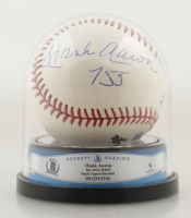 """Hank Aaron Signed ONL Baseball Inscribed """"755"""" with High Quality Display Case (BGS Encapsulated) at PristineAuction.com"""