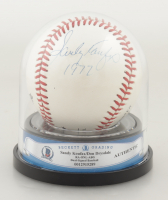 Sandy Koufax & Don Drysdale Signed ONL Baseball Inscribed with High Quality Display Case (BGS Encapsulated) at PristineAuction.com