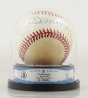Joe DiMaggio Signed OAL Baseball with High Quality Display Case (BGS Encapsulated) at PristineAuction.com
