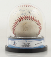 """Mickey Mantle Signed OAL Baseball Inscribed """"307 / 536"""" with High Quality Display Case (BGS Encapsulated) (See Description) at PristineAuction.com"""