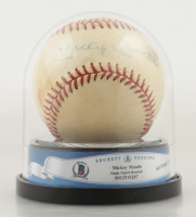 Mickey Mantle Signed Spalding Baseball with High Quality Display Case (BGS Encapsulated) at PristineAuction.com