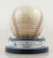 Giants 5th WS Title Team Signed OAL Baseball with High Quality Display Case Signed By (29) Willie Mays, Johnny Antonelli, Alvin Dark, Sal Maglie, Hoyt Wilhelm (BGS Encapsulated) at PristineAuction.com