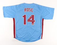 """Pete Rose Signed Jersey Inscribed """"1980 W.S. Champs"""" (Fiterman Sports Hologram) at PristineAuction.com"""