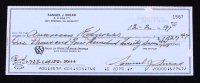 Sam Snead Signed 1991 Personal Bank Check (Stacks of Plaques COA) (See Description) at PristineAuction.com