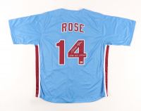 """Pete Rose Signed Jersey Inscribed """"`1980 W.S. Champs"""" (Rose Hologram) at PristineAuction.com"""