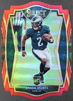 Jalen Hurts 2020 Select Prizm Red Die Cut #150 RC at PristineAuction.com