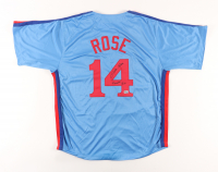 """Pete Rose Signed Jersey Inscribed """"4000th Hit"""" (Rose Hologram) at PristineAuction.com"""